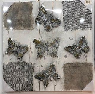 mariposa plateada cuadro