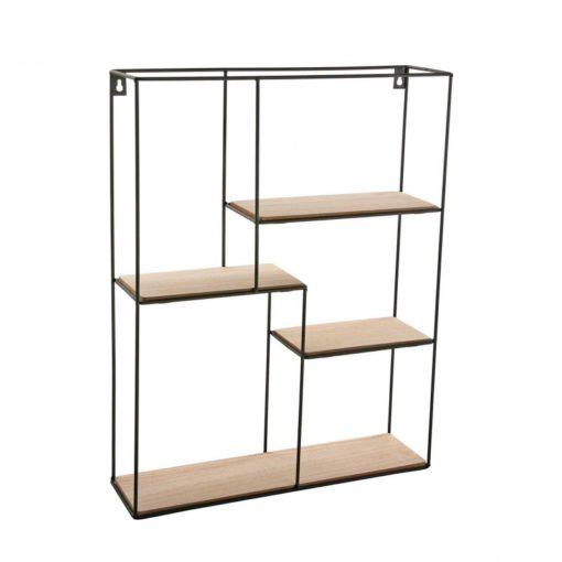 estanteria de pared rectangular metal
